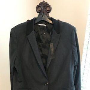 Tahari women's gray/black blazer/jacket